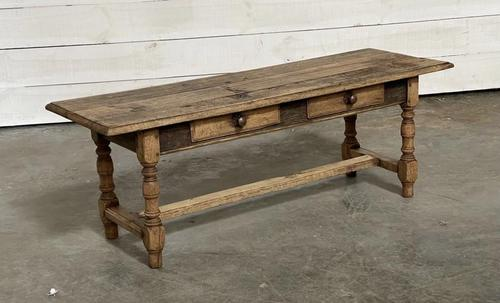 French Rustic Bleached Oak Coffee Table (1 of 17)