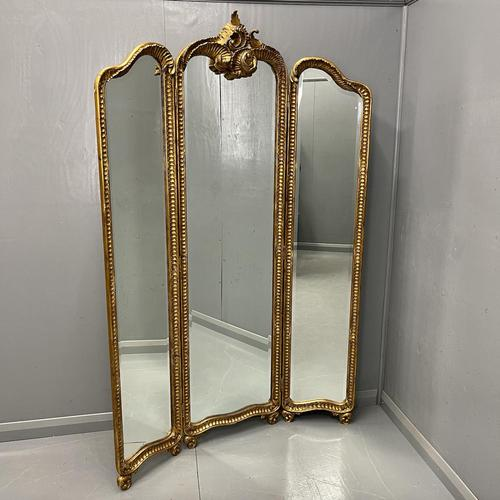 Floor Standing 3 Fold Dressing Mirror (1 of 7)
