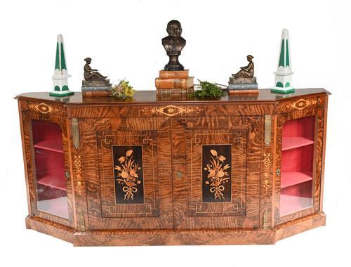 Victorian Credenza Walnut Sideboard Cabinet c.1880 (1 of 16)