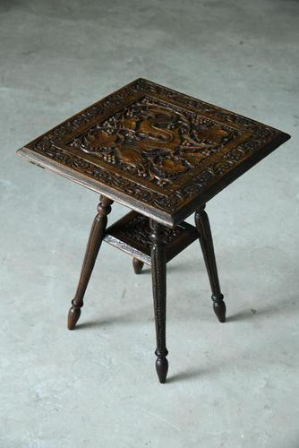 Small Eastern Carved Side Table (1 of 11)