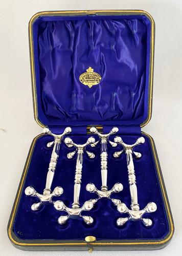 Silver Plated Knife Rests c.1900 (1 of 1)