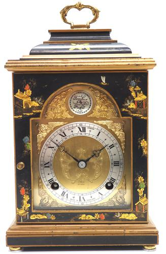 Good Caddy Top Mantel Clock – Chinoiserie Striking 8-day Mantle Clock by Elliot London (1 of 13)