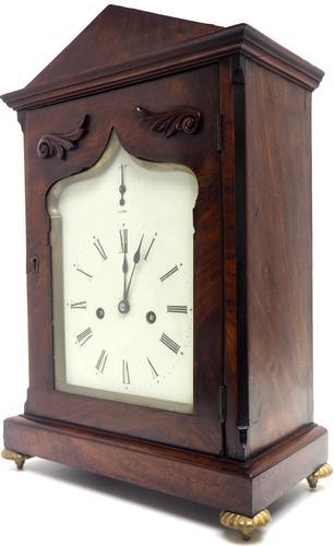 Unusual & Rare Mahogany Bracket Clock Taj Mahal Bezel & Dial Mantel Clock (1 of 10)