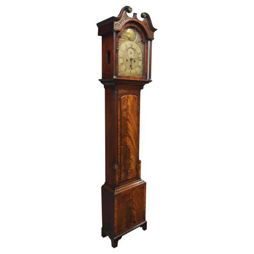George III Inlaid Mahogany Grandfather Clock by G Brown, Edinburgh (1 of 12)