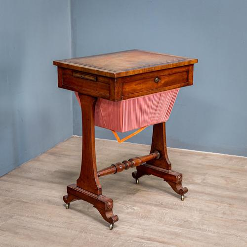Victorian Leather Top Work Table (1 of 12)