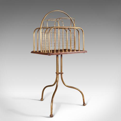 Antique Newspaper Rack, French, Oak, Magazine, Music Stand, Victorian c.1900 (1 of 11)