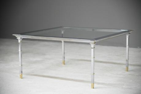 Italian Style Chrome & Brass Coffee Table (1 of 13)