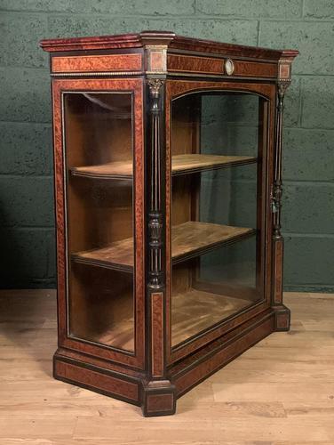 Superb ebonized and amboyna glazed pier cabinet (1 of 8)