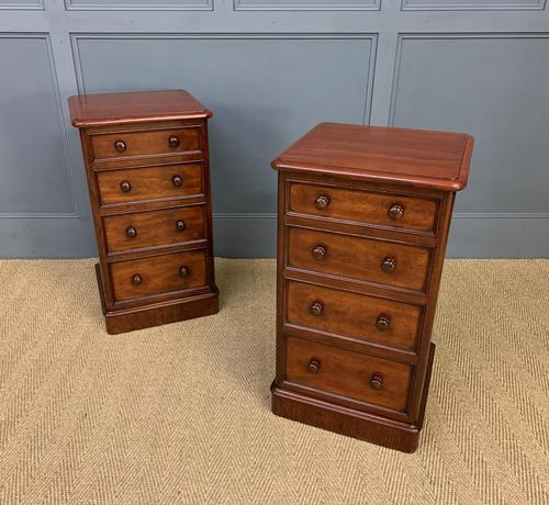 Pair of Victorian Mahogany Bedside Chests (1 of 16)