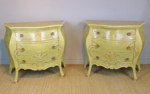 Vintage Italian Painted Bombe Commodes Harrods (1 of 10)