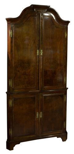 Geo III Style Walnut Corner Cabinet (1 of 5)