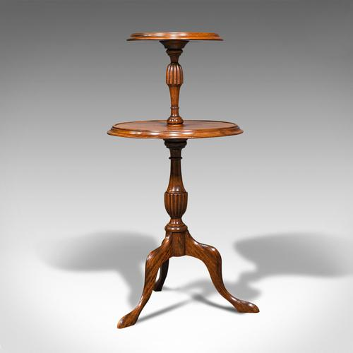 Antique Two Tier Table, English, Mahogany, Afternoon Tea, Cake Stand, Edwardian (1 of 12)