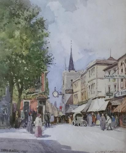 William Tatton Winter Watercolour 'St Georges Canterbury' (1 of 2)