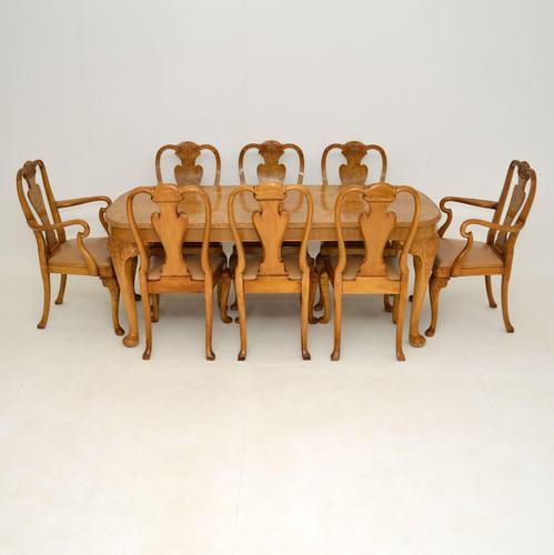 Antique Burr Walnut Dining Table & Chairs by Epstein (1 of 15)
