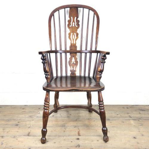 Antique Ash & Elm Windsor Armchair (1 of 11)