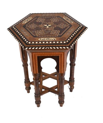 Damascan Side Table Octagonal Arabic Interiors Inlay (1 of 10)