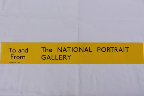 London Transport Slipboard Poster for The National Portrait Gallery (1 of 1)