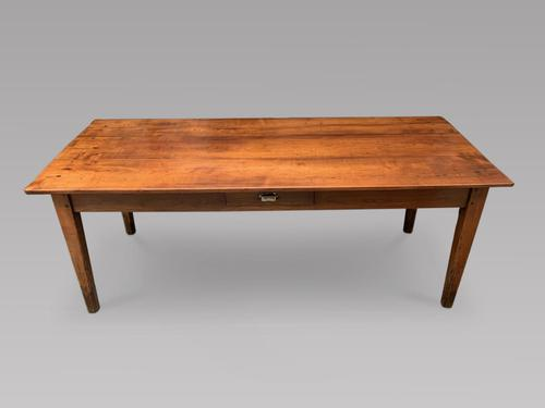 Good Sized Eight Seater Fruitwood Farmhouse Table (1 of 4)