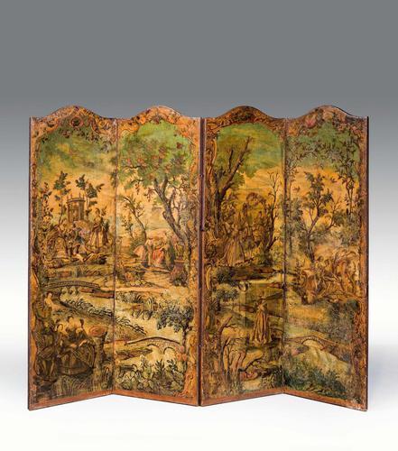 Early 18th Century European Four Folding Screen (1 of 9)