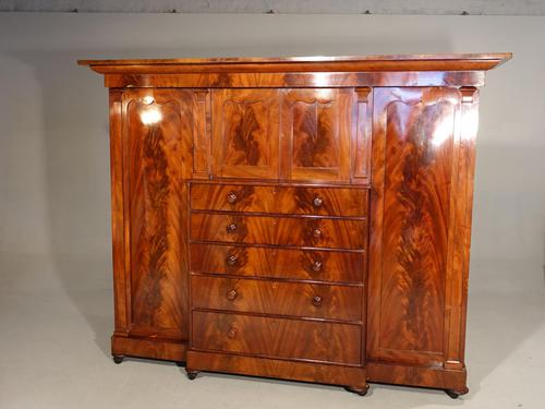A Handsome Mid 19th Century Breakfront Wardrobe (1 of 3)