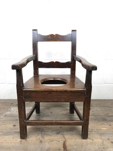Antique Stained Pine Child's Potty Chair (1 of 12)