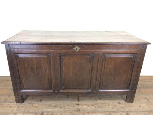 Antique 18th Century Oak Coffer with Panel Front (1 of 12)
