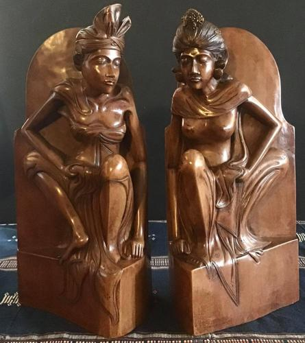 Pair of Large Hand Carved  Indonesian Bookends (1 of 12)