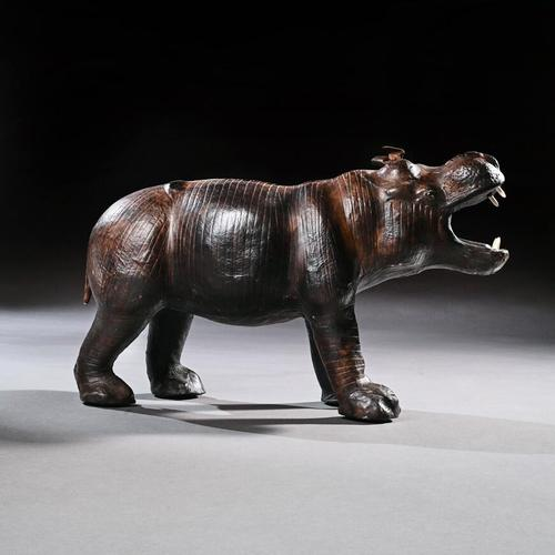 Mid 20th Century Liberty Of London Leather Hippo (1 of 12)