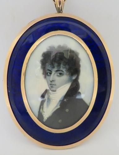 Miniature Portrait Georgian Gentleman 1790 En Grisaille (1 of 4)