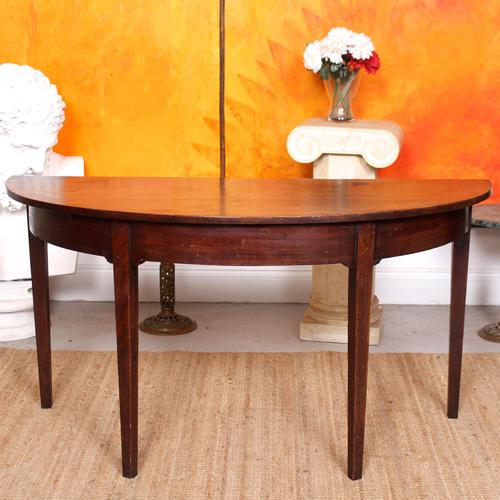 Georgian Demi Lune Console Table Mahogany Carved Hall Table (1 of 5)