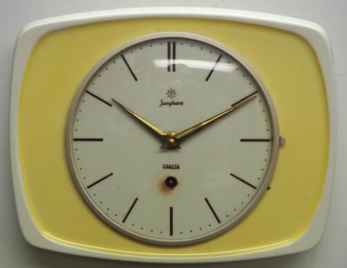Rare Kitch Ceramic Pot Clock – Junghans 1940s Kitchen Wall Clock (1 of 6)