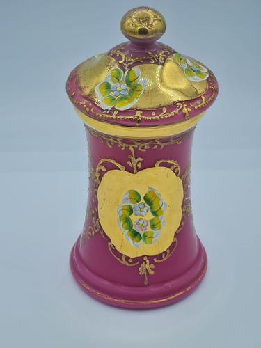 Antique Opaline Glass Jar (1 of 10)