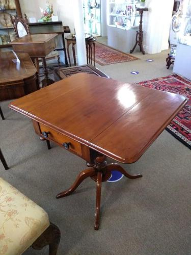 Victorian Mahogany Pembroke Table with Two Drawers (1 of 7)