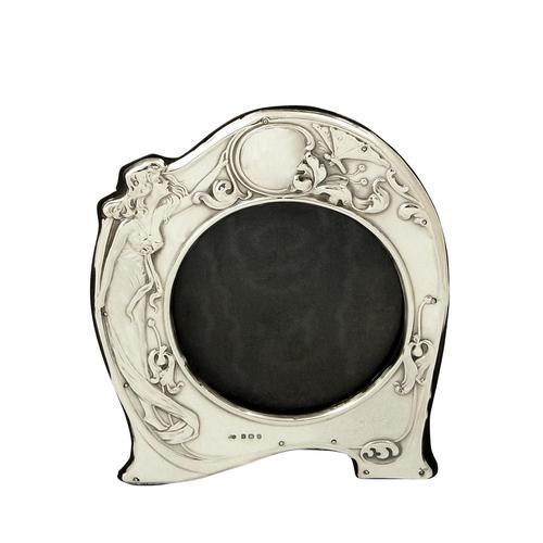 Antique Art Nouveau Sterling Silver Photo Frame 1907 (1 of 10)
