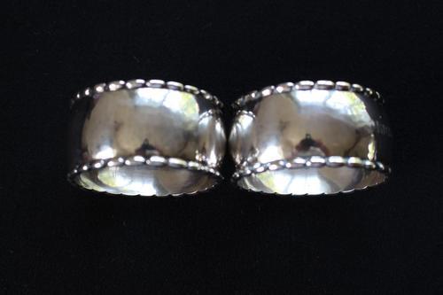 Pair of Georg Jensen Silver Napkin Rings (1 of 6)