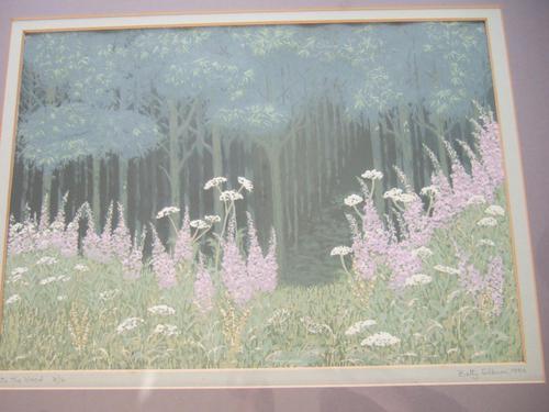 "Betty Silburn Screenprint ""into the wood"" (1 of 3)"
