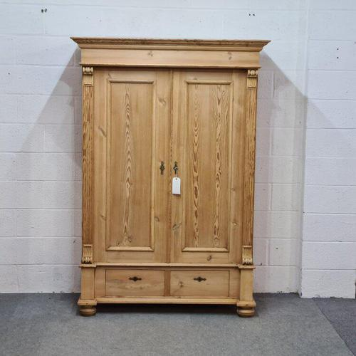 Small Old Pine Wardrobe Dismantles (1 of 5)