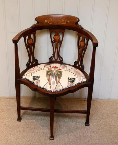 Mahogany Art Nouveau Corner Chair (1 of 10)