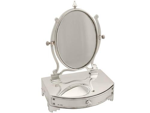 Sterling Silver Dressing Table Mirror and Jewellery Box - Antique Edwardian (1 of 12)