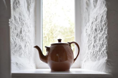 Large Late 19th Century Stoneware Teapot (1 of 9)