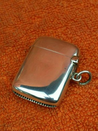 Antique Sterling Silver Hallmarked Vesta Case 1903, Joseph Gloster Ltd (1 of 9)