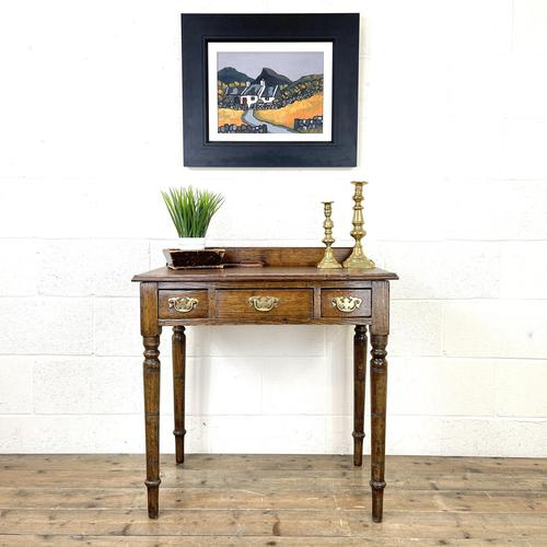 19th Century Antique Oak Side Table (1 of 10)