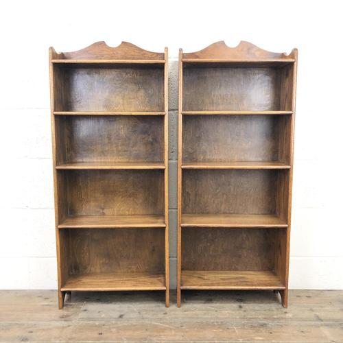 Pair of Early 20th Century Oak Bookcases (1 of 10)