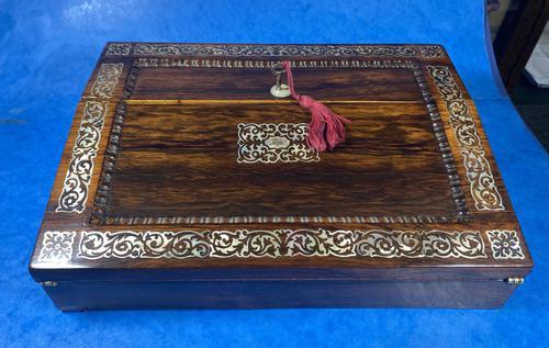 William IV Rosewood Lap Desk (1 of 18)
