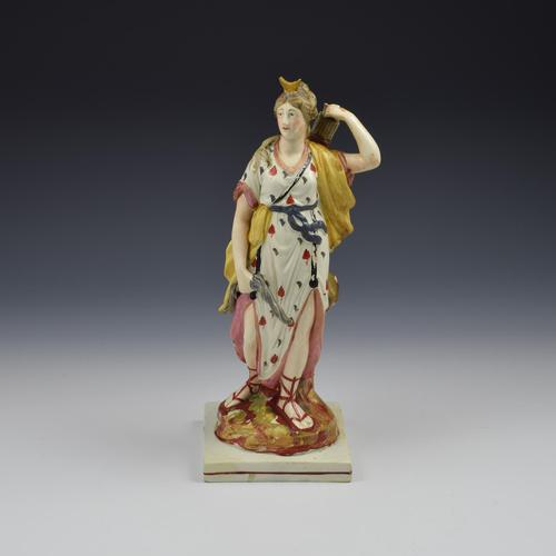 Large Staffordshire Pottery Pearlware Figure of Diana c.1820 (1 of 11)