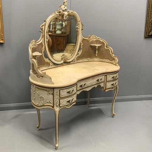 Grand Scale Italian Painted Dressing Table (1 of 8)