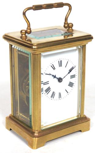 Antique French Classic 8-Day Carriage Clock Classic Case with Enamel Dial (1 of 5)