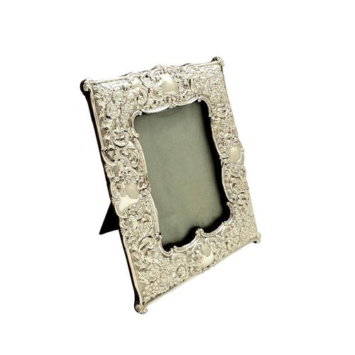 "Antique Edwardian Sterling Silver 8"" Photo Frame  1901 (1 of 10)"