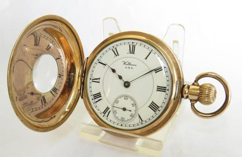 Waltham Vanguard Rail Road Grade Half Hunter Pocket Watch (1 of 5)