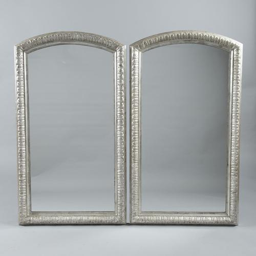 Fabulous Pair of 19th Century French Silvered Overmantle  Mirrors (1 of 8)